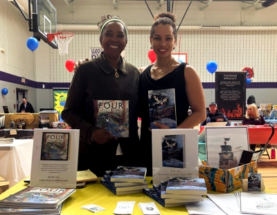 Marann and Esther Jones with their books